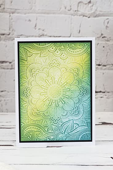 """CRAFTERS COMPANION 3D EMBOSSING Folder INDIAN SUMMER 5 x 7/""""  EF5-3D-INDS"""
