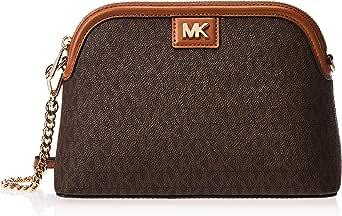 Michael Kors Large Logo Dome Crossbody Bag for Women-Brown