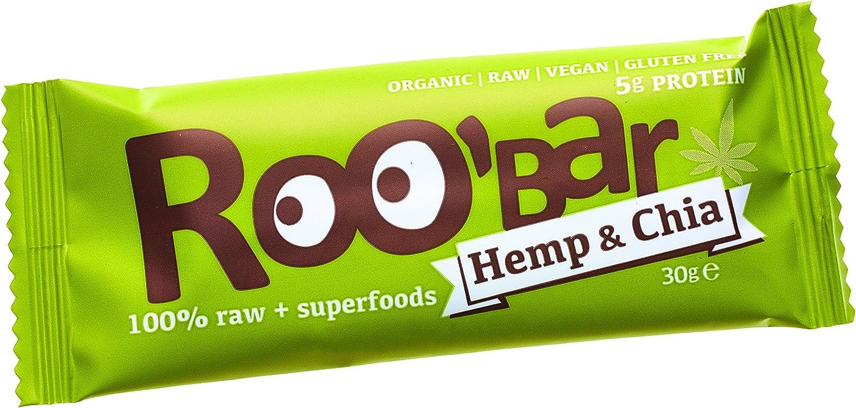 Roobar Barritas Raw Biológica de Fruta, Nueces y Proteína de ...