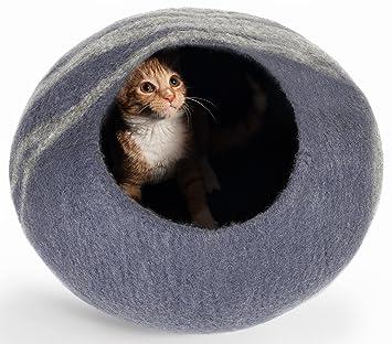 Twin Critters Cueva Cama de Gato Gris: Amazon.es: Productos para mascotas