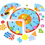 Picnmix Orologio di Apprendimento Giocattoli Educativi per bambini dai 3 ai 7 anni (Orologi Intelligenti)