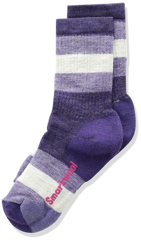 Mountain Purple L Smartwool Kinder Kids Striped Hike M Crew Socks