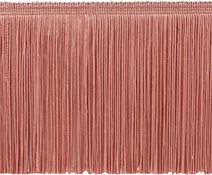 Dusty Rose 6 x 9 yd Decorative Trimmings 100/% Rayon Chainette Fringe