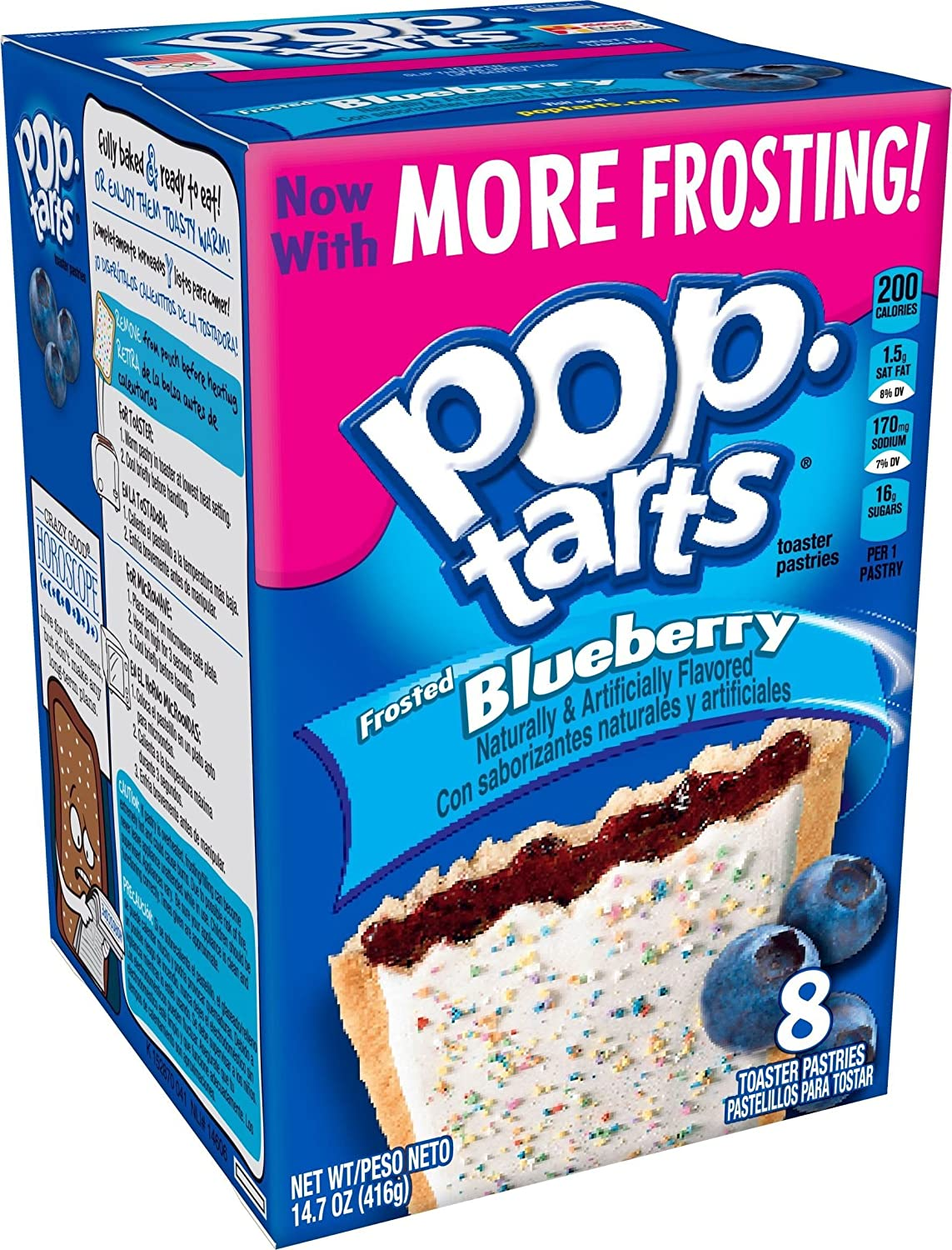 Pop-Tarts Toaster Pastries-Frosted Blueberry-14.7 oz