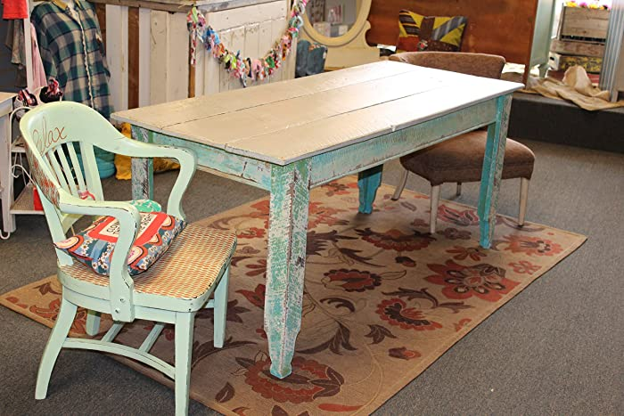 Beach Inspired Farm Table