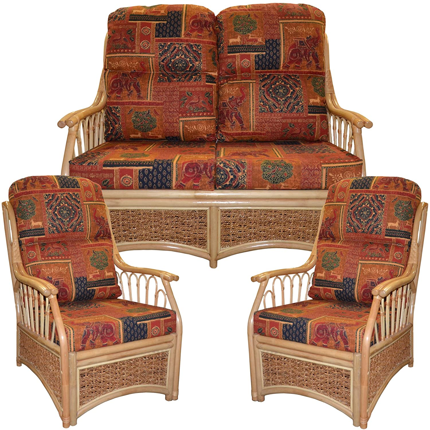 Cane chairs with cushions - Replacement Cane Suite Complete Cushions Only Conservatory Furniture Wicker Rattan