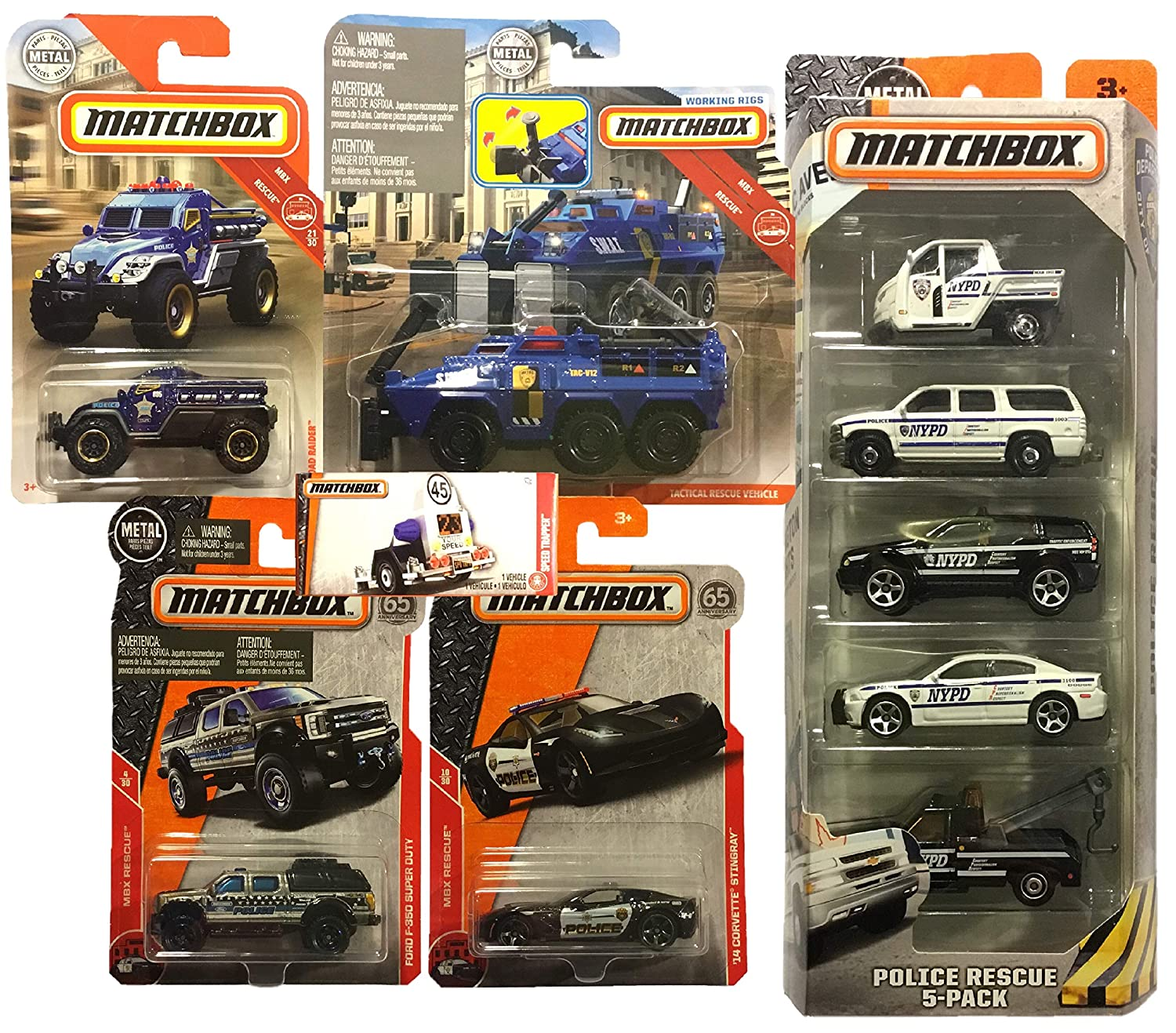 Amazon com: Matchbox MBX Police/Swat 10 Car Bundle with NYPD