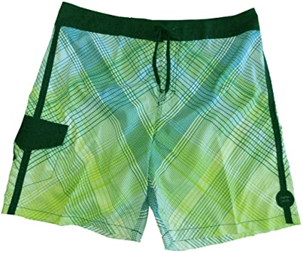 db00e6a4ac Image Unavailable. Image not available for. Color: Men's Billabong Swim  Trunks Board Shorts Green/Blue/White Size 36