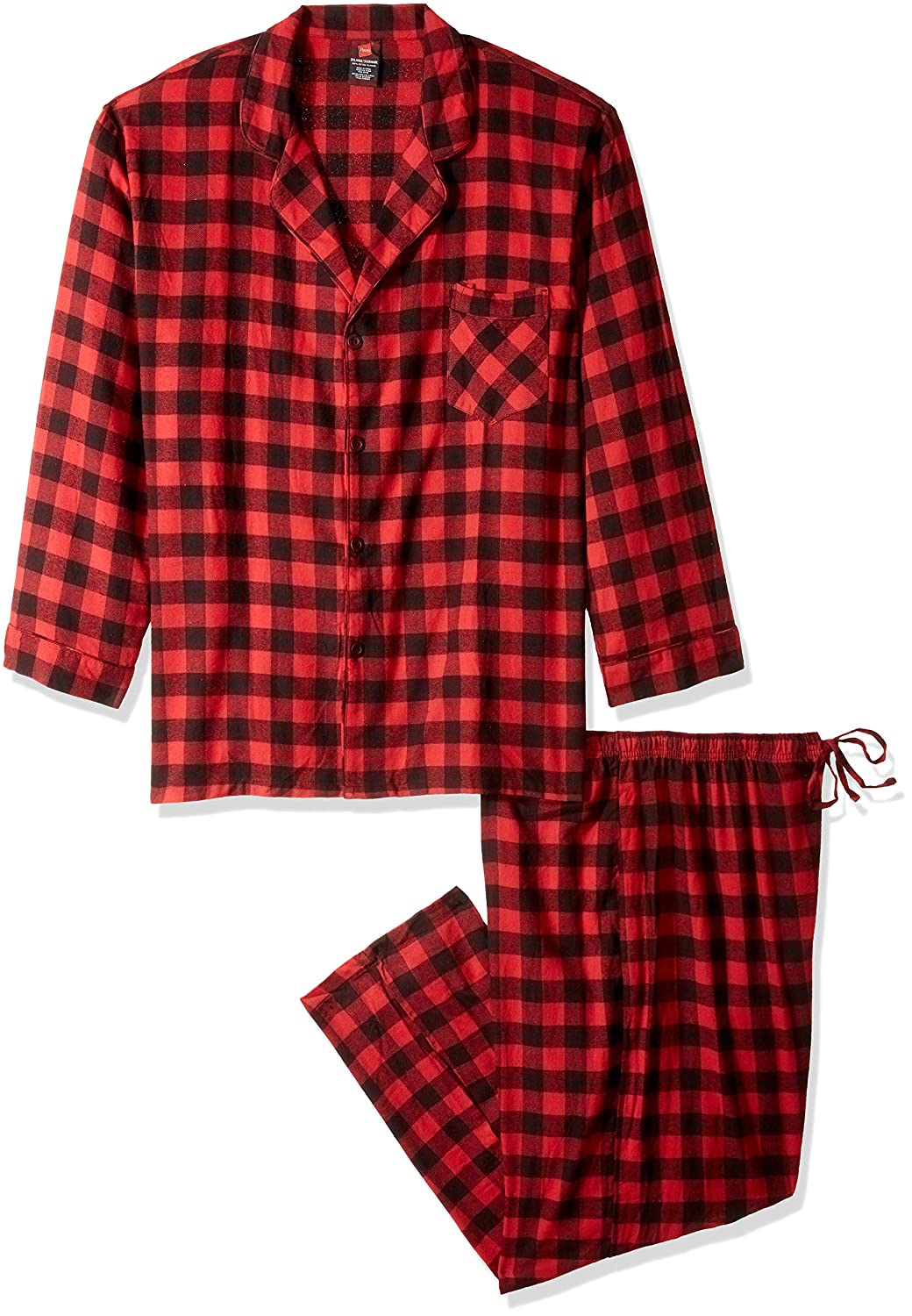 Hanes Mens Men's Flannel Pajama Set