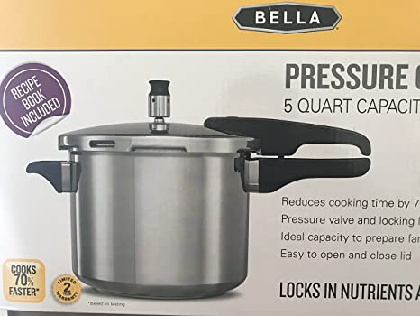 Amazon.com: Bella olla de presión 5 qt: Kitchen & Dining