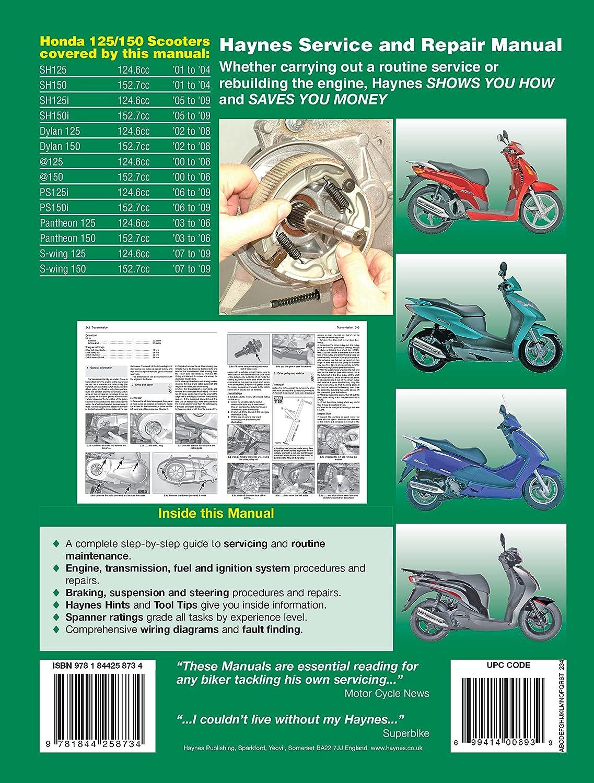 Honda Sh 125 Ses Fes Reparatur Handbuch Haynes Workshop Service Peugeot Squab Wiring Diagram Manuell 20002009 Auto
