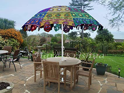 fc9167297a57 Image Unavailable. Image not available for. Color: Indian Garden Parasol  Large Outdoor Home Sun Shade ...