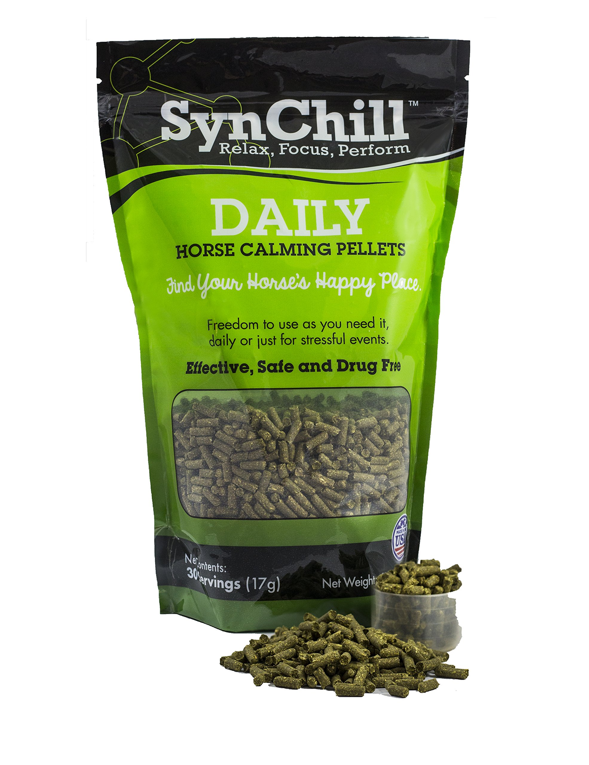 SynChill Daily Horse Calming Pellets by SynNutra