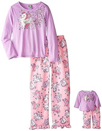 Amazon.com  Dollie   Me Big Girls  Unicorn Sleepwear Set  Clothing dbf8a4401