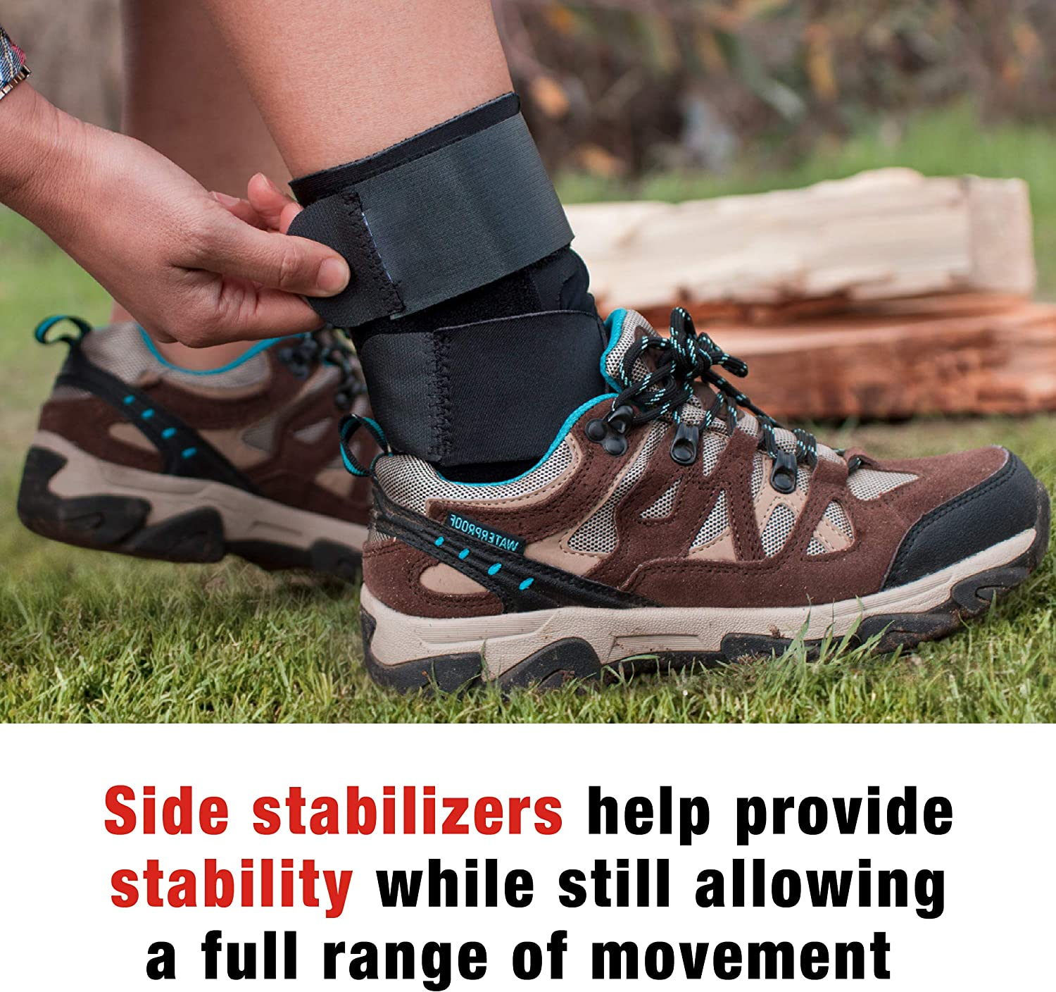ACE Deluxe Ankle Stabilizer, Support to sprained or strained ankle, Satisfaction Guarantee, One Size Fits Most: Health & Personal Care