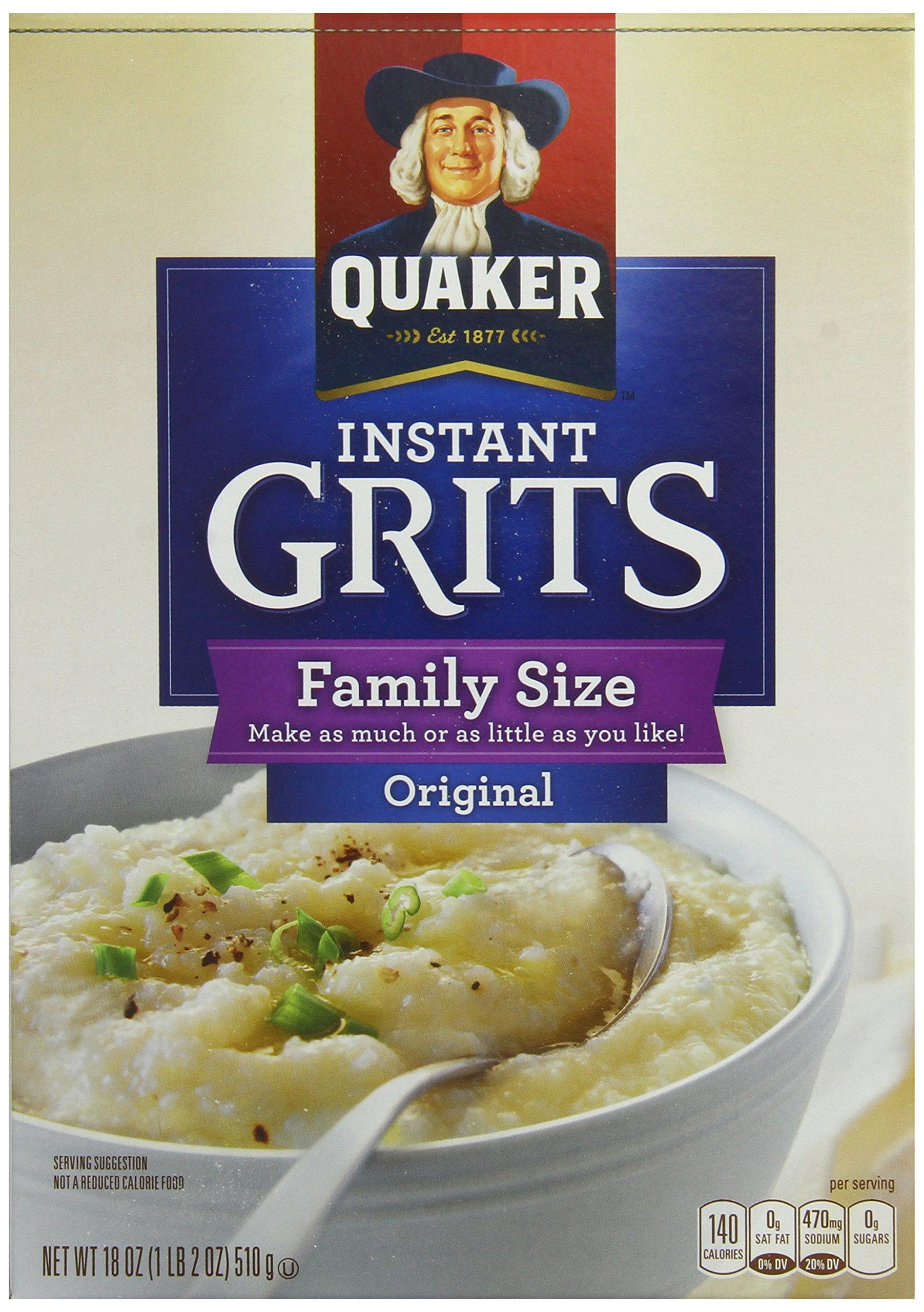 Quaker Instant Original Family Size Grits, 18 ounces