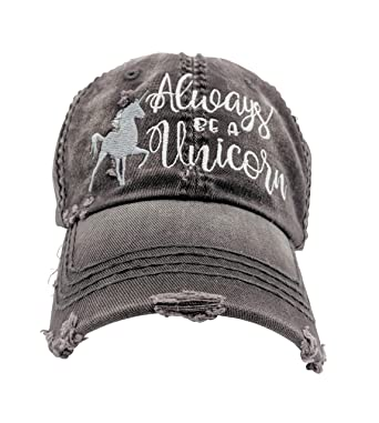 Loaded Lids Customizable, Women's Always Be a Unicorn Embroidered Baseball  Cap