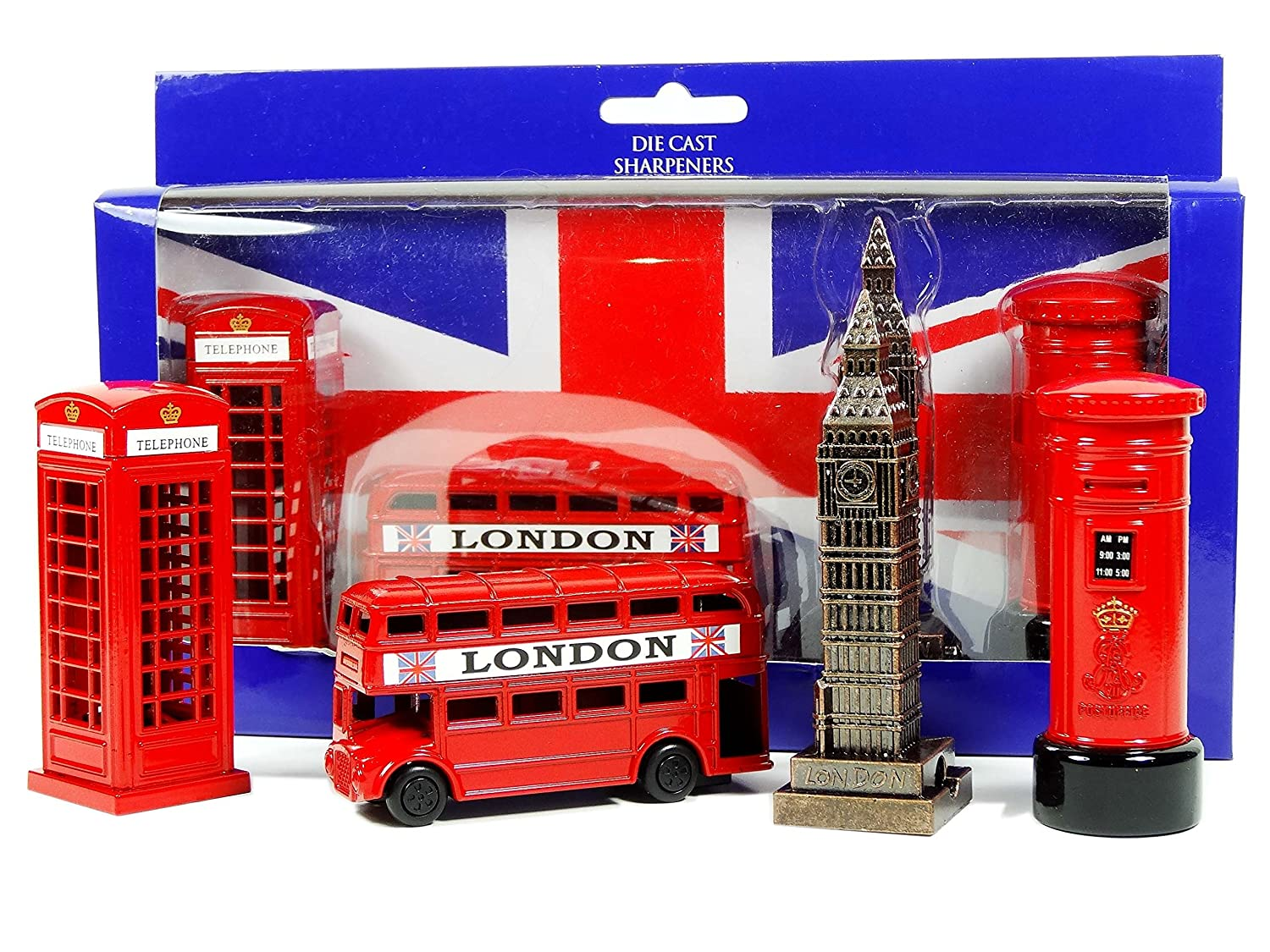 Pack of 4 London's Best selling Souvenirs Sharpeners and Models By Awnhill London Gifts Store