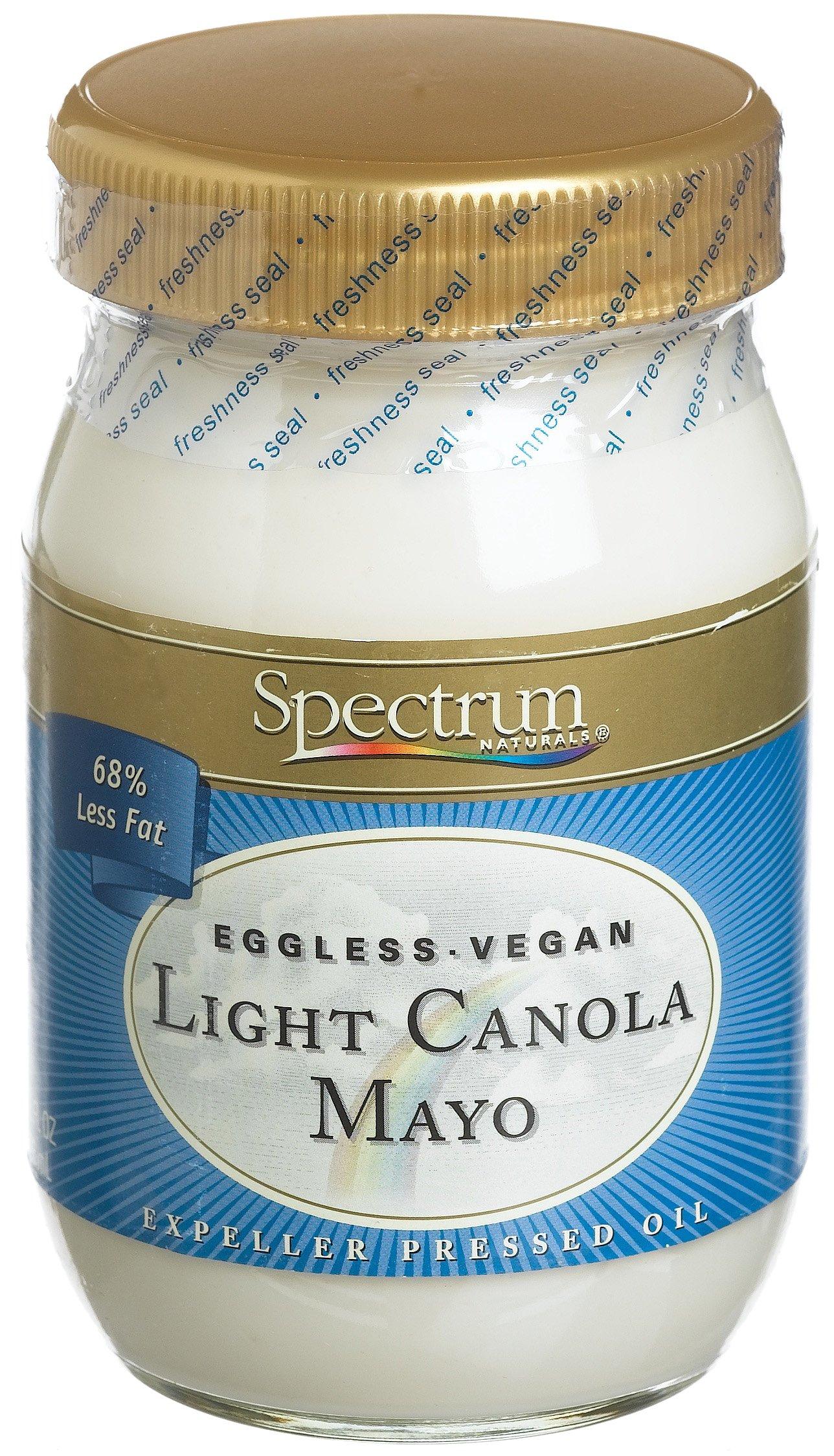 Spectrum Mayonnaise, Canola Lite, Low Fat, 16 oz