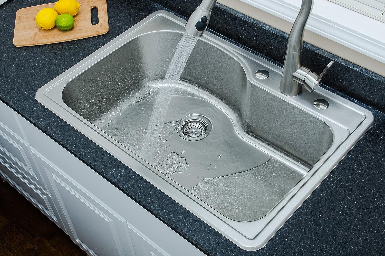 Wells Sinkware DTT3322-9 18-Gauge Single Bowl Top-Mount Kitchen Sink ...