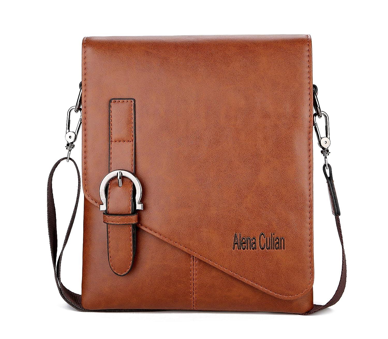 02d9696864 Alena Culian Men Shoulder Bag Messenger Bag Men Bag Crossbody Bag For  ipad(black)