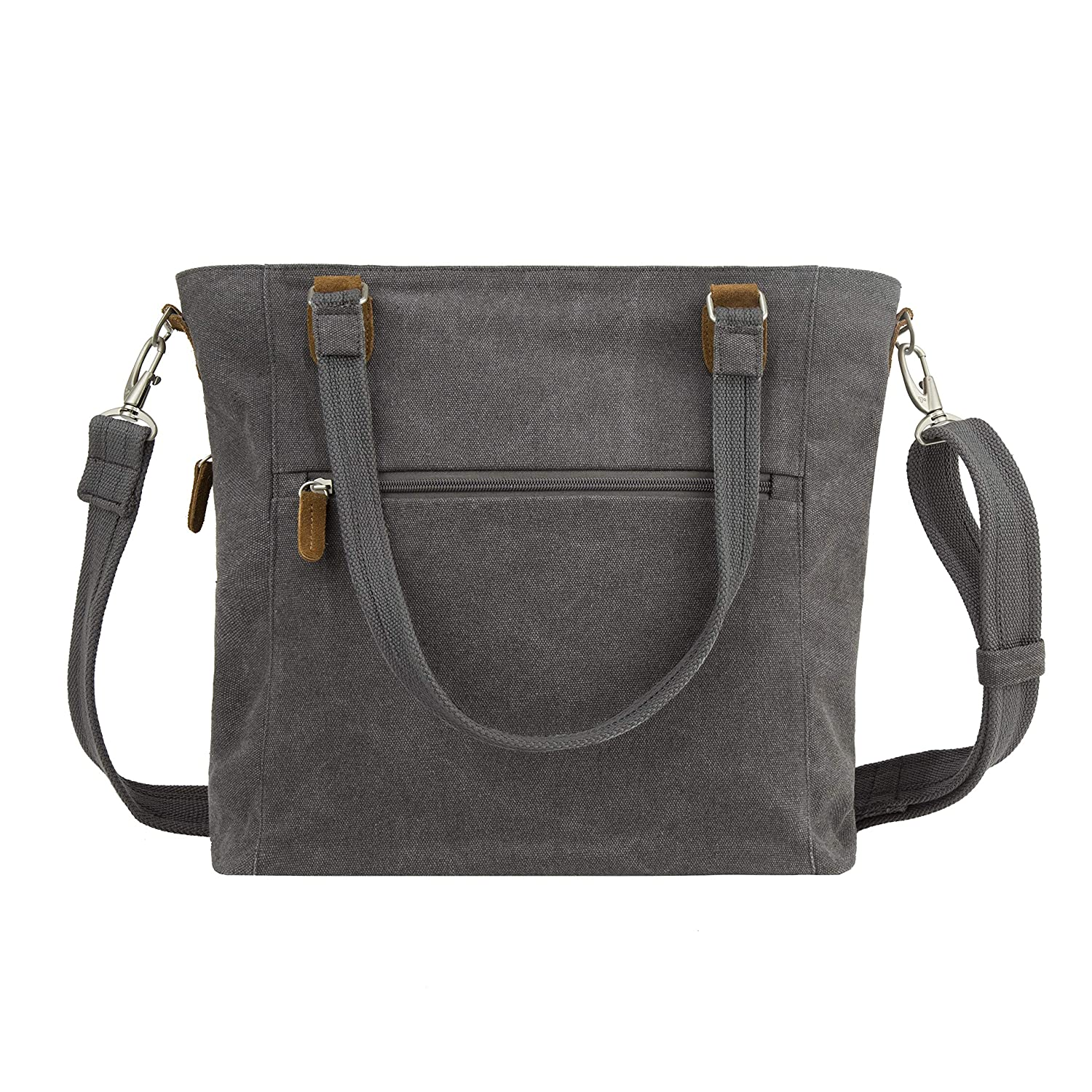 Pewter Travelon Anti-Theft Heritage Tote Bag