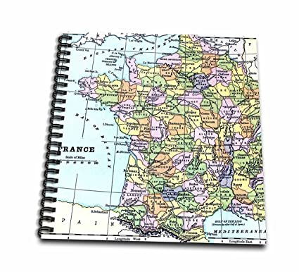 Map Of France Drawing.Amazon Com Ps Maps Colorful Map Of France Travel Europe