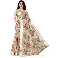 Sourbh Women's Floral Prints Saree with Blouse Piece