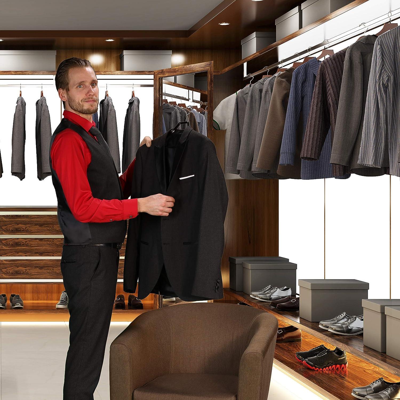 schwarz gummiert 20 x Anzugbügel Kleiderbügel rutschfest Hosenbügel Metall