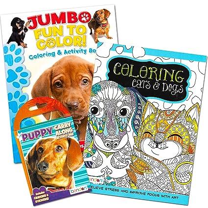 Amazon.com: Cachorros y gatitos Juego de libro para colorear ...