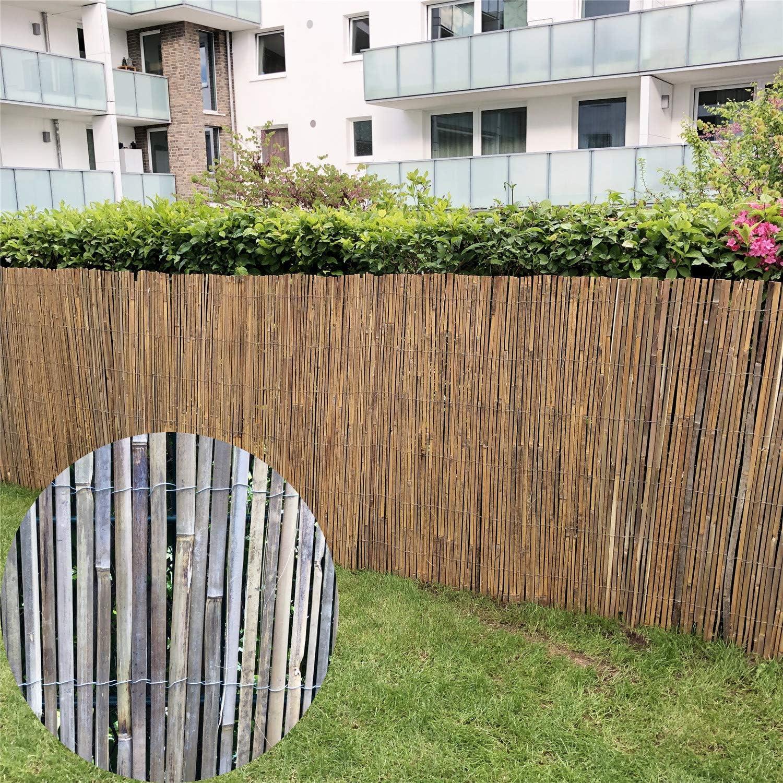 Amazon De Intergo Bambusmatte 100 X 400 Cm Sichtschutzzaun Balkon