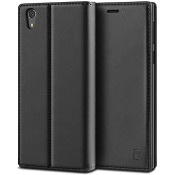 newest collection 76fc5 ea4ab BEZ Case for Sony Xperia L1 Case, Protective PU Leather Wallet Flip Cover  Compatible with Sony Xperia L1 with Card Holder, Kick Stand, Magnetic ...