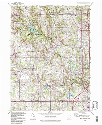Amazon Com Yellowmaps West Richfield Oh Topo Map 1 24000 Scale