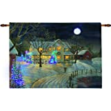 "Holiday Night Wall Hanging 36"" x 26"" with Remote"