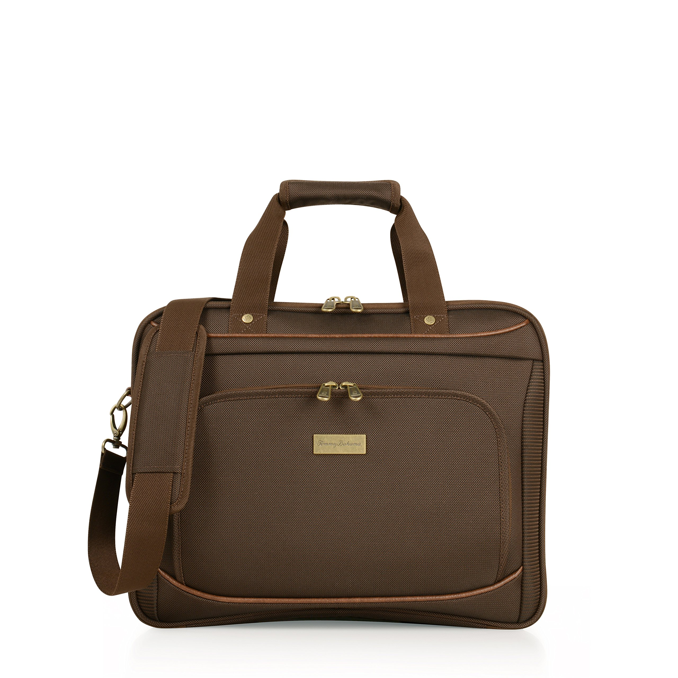 Tommy Bahama Harbor Elua 16 Inch Briefcase, Brown, One Size