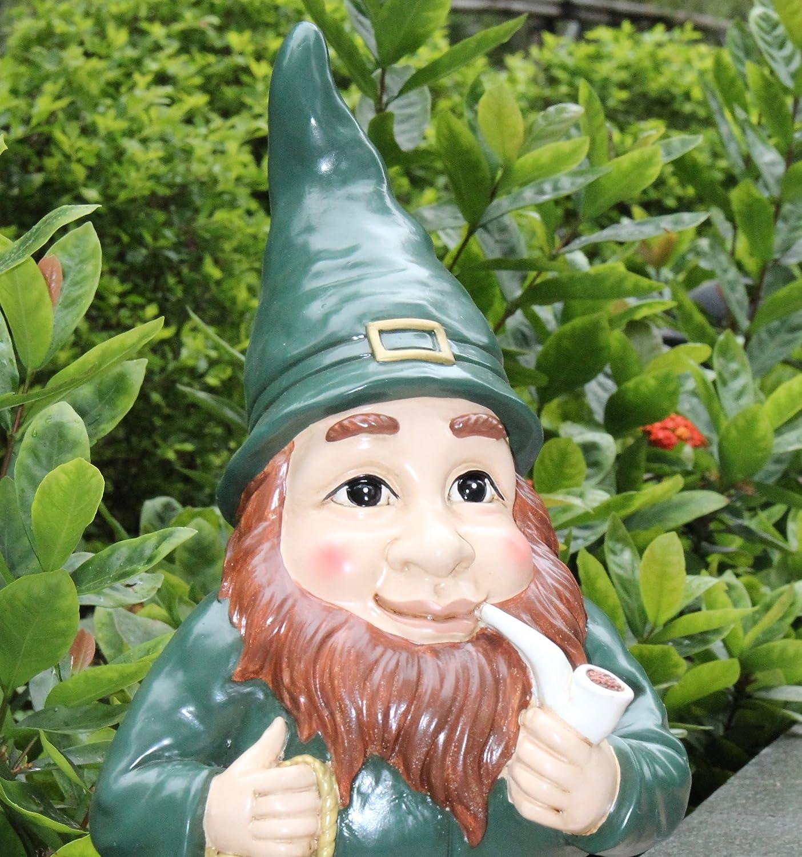 Lucky Irish Leprechaun Garden Statue / Ornament   Indoor Or Outdoor Use    Gnome Garden Decoration!: Amazon.co.uk: Garden U0026 Outdoors