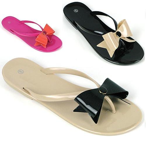 Mujerde LazoTallas Tilly Para GomaCon Shoes Sandalias Planas 5LAcj3q4R