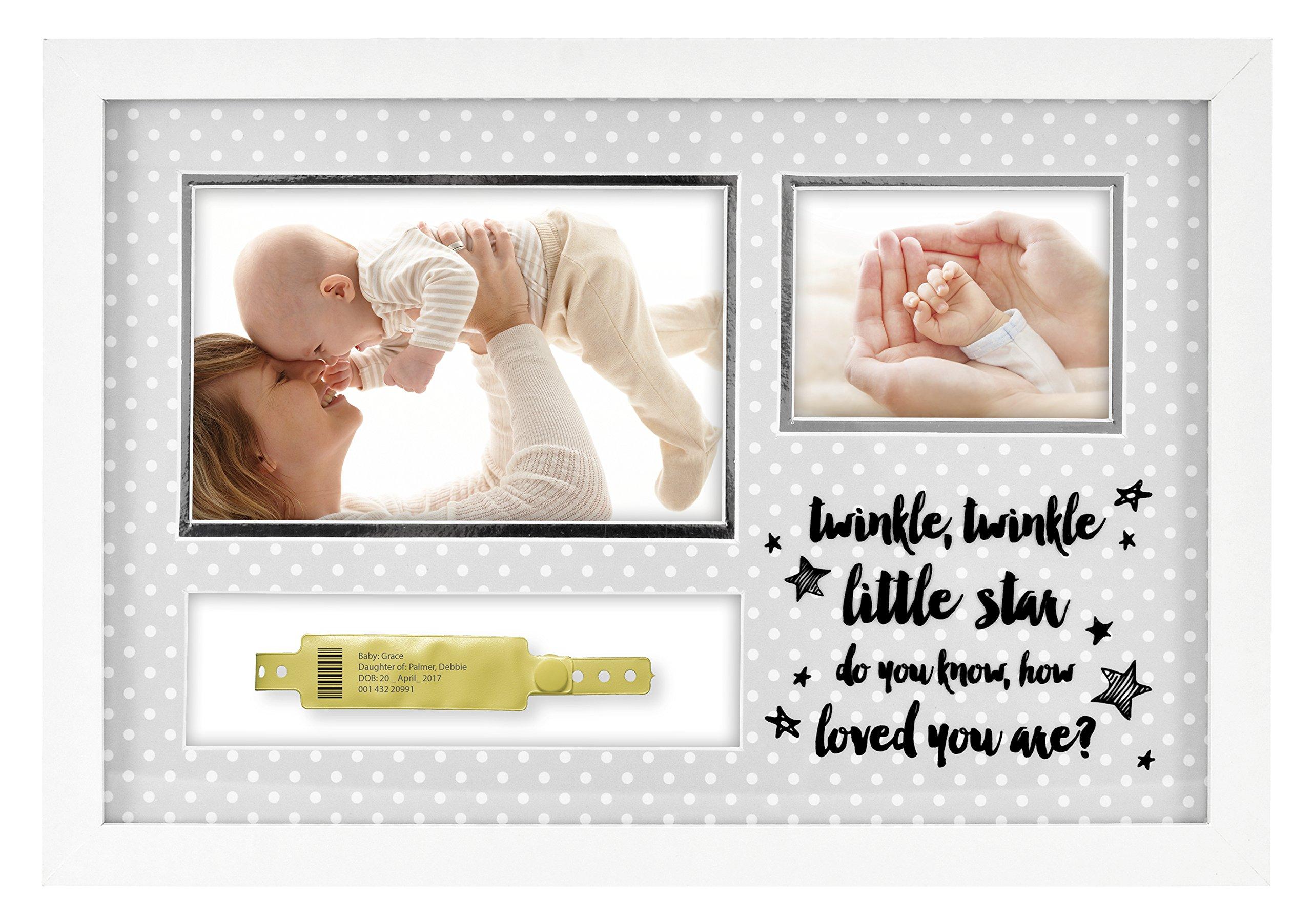 MCS ''Twinkle, Twinkle Little Star Baby Hospital ID Bracelet and Photo Frame (66890)