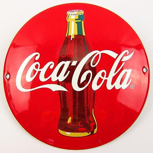 NUEVO BBV Emaille - Cartel (Coca-Cola 12 cm redondo, Classic ...