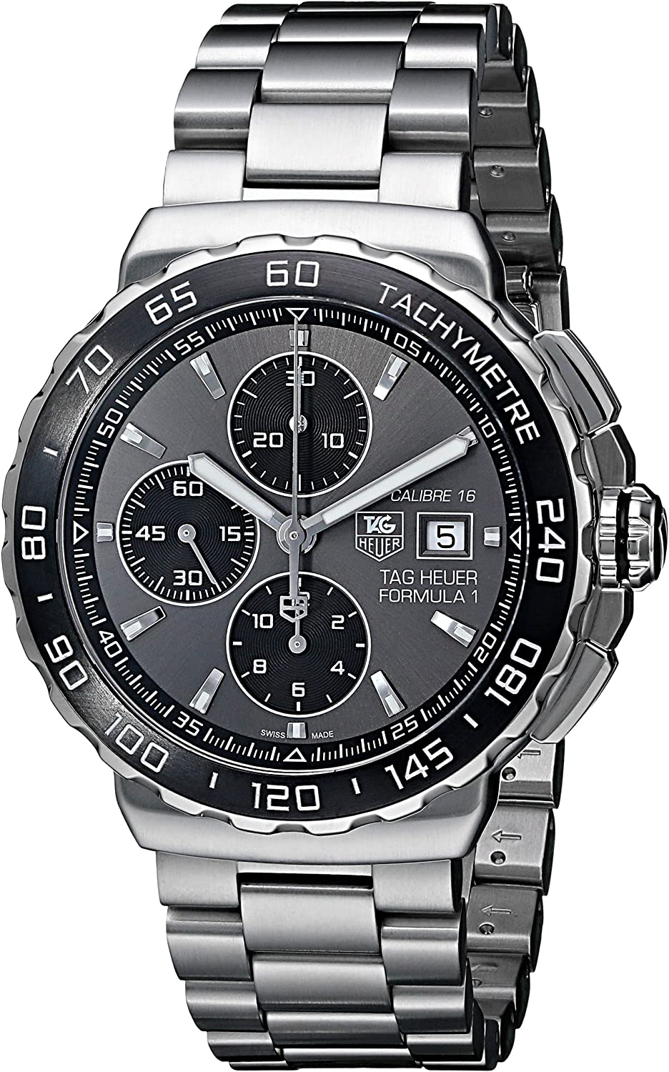 TAG Heuer Men s THCAU2010BA0874 Formula 1 Analog Display Swiss Automatic Silver Watch