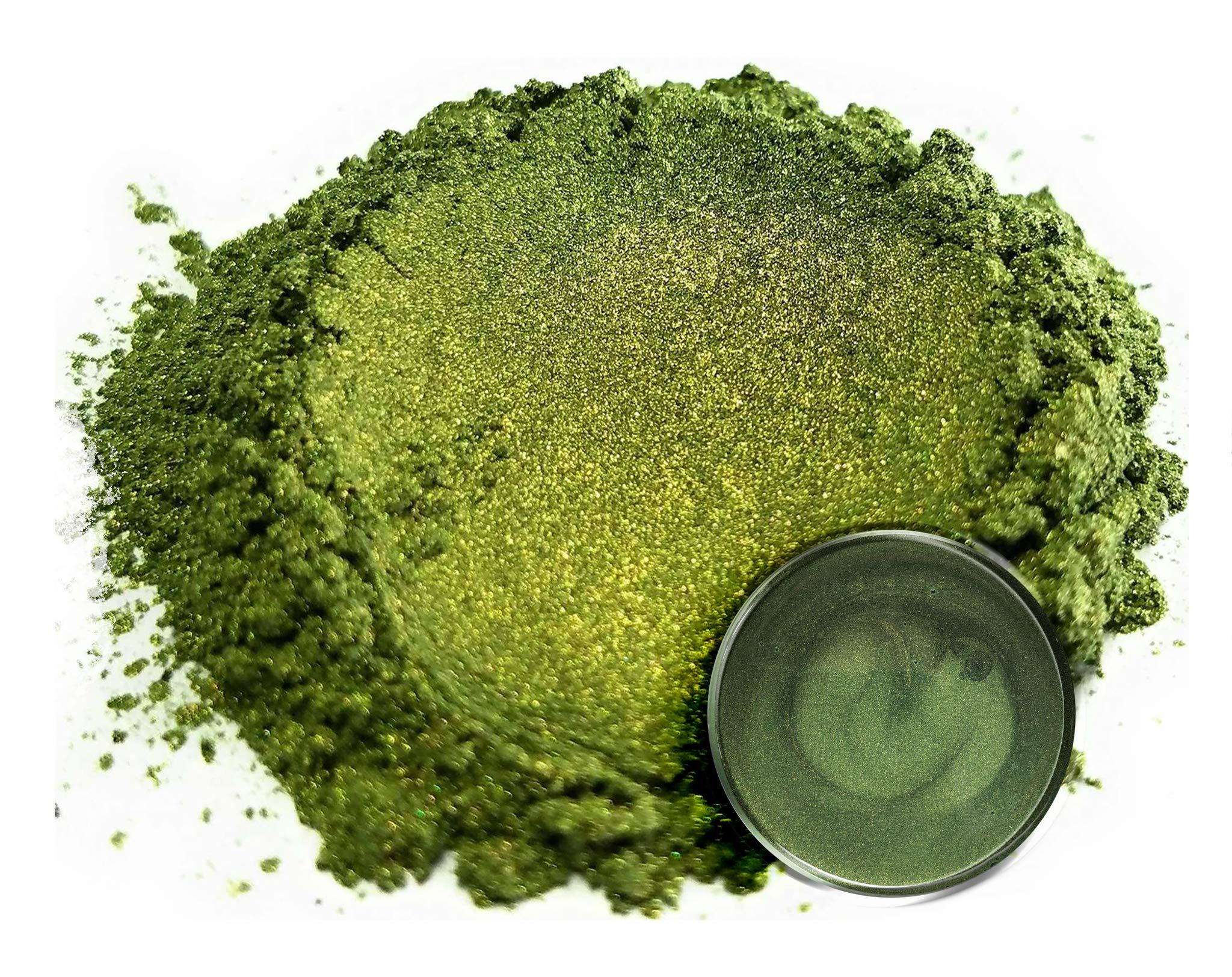 "Eye Candy Mica Powder Pigment ""Matcha Green"" (50g) Multipurpose DIY Arts and Crafts Additive | Natural Bath Bombs, Resin, Paint, Epoxy, Soap, Nail Polish, Lip Balm"