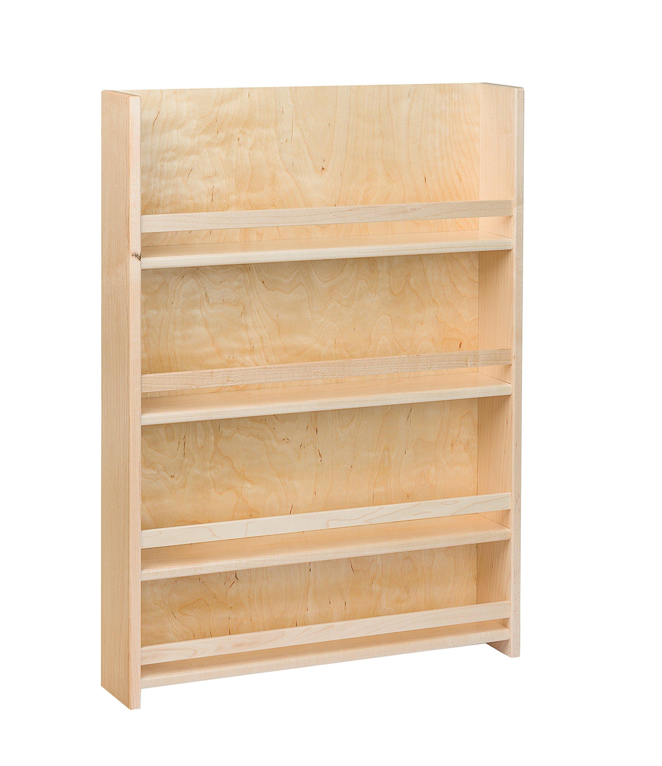 Century Components SRAS18PF Wood Door Mount Kitchen Spice Rack Organizer, 18'' by Century Components