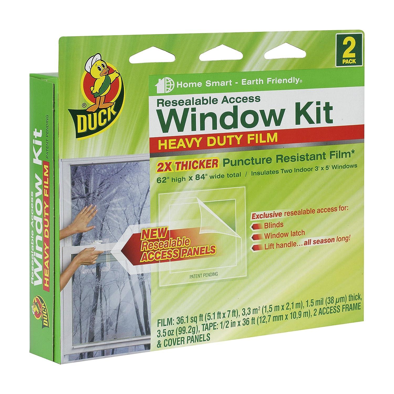 duck brand heavyduty shrink film indoor window insulation kit 62inch x 84inch amazoncom