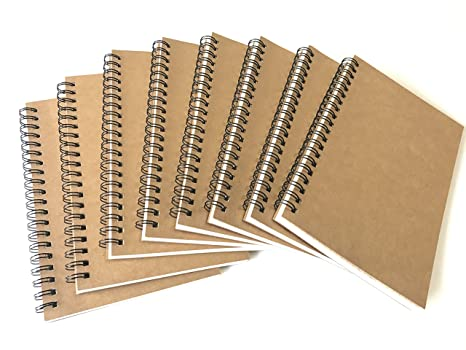amazon com veeppo 8 pack graph grid bulk notebooks and journals