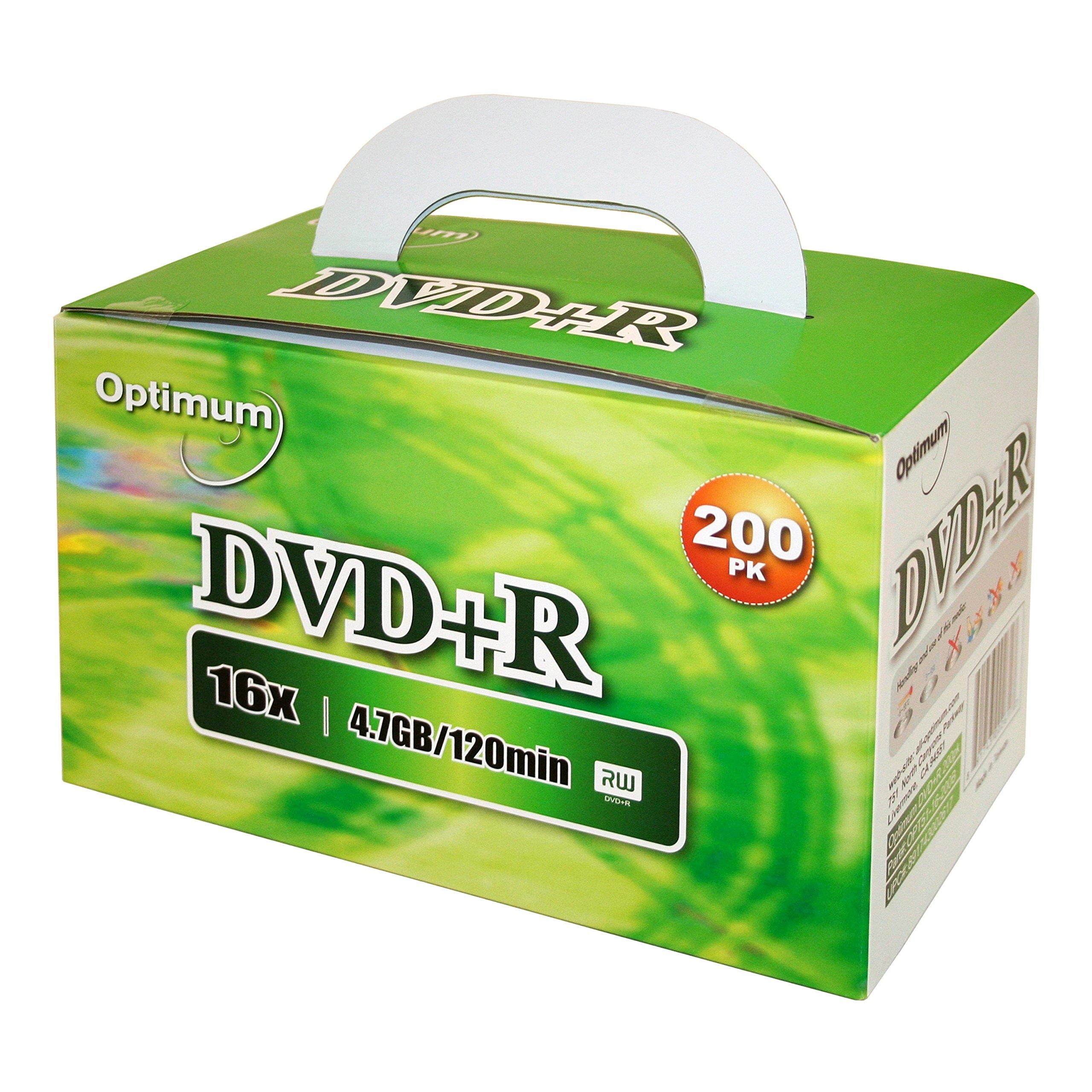 Optimum DVD+R 16x 4.7GB / 120min Logo Top 200pk