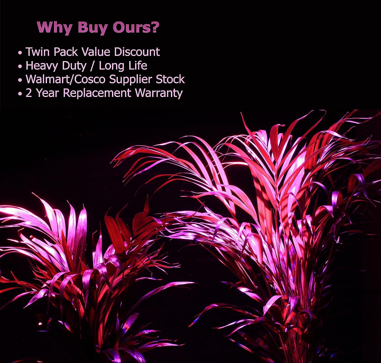 Pack de 2 luces LED de cultivo para plantas de interiores: 12, 18 o 24 W. Semillas, verduras, flores, verduras, crecimiento interior.