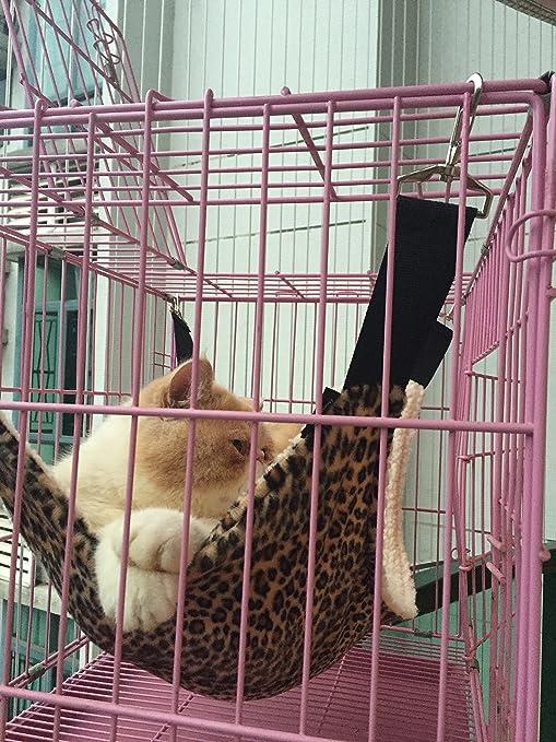 Hamaca para gatos Hurón Rata Conejo Perritos u otras mascotas - Fácil de enganchar en una
