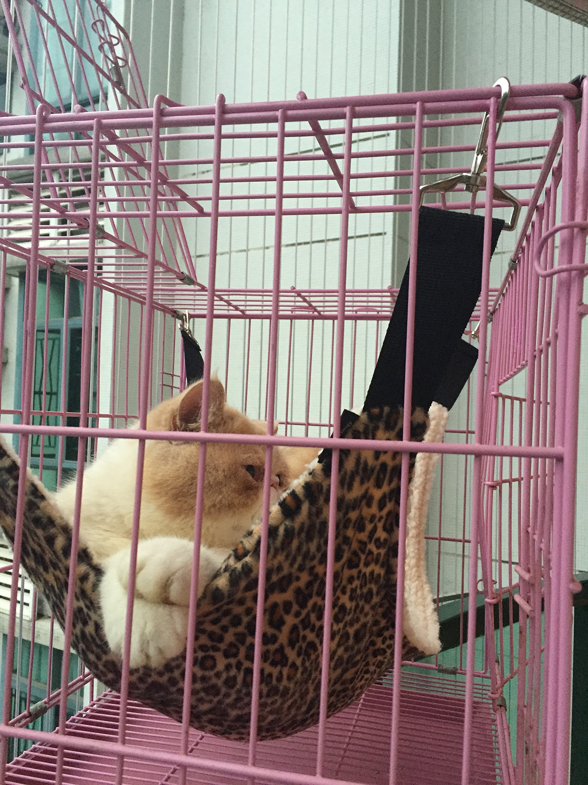 UsefulThingy Cat Hammock/Ferret, Rat, Rabbit, Small Dogs or Other Pet - Easy to Attach to a Cage - 3 Designs 1