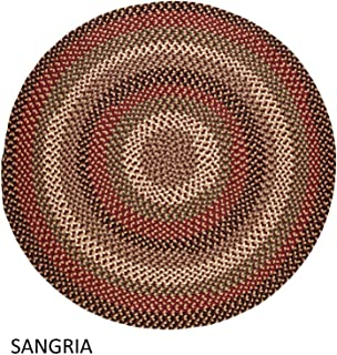 product image for Rhody Rug Jamestown Indoor/Outdoor Braided Rug Sangria 4' Round Reversible 4' Round Indoor Round