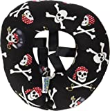 Puppy Bumper - Keep Your Dog on the Safe Side of the Fence - Jolly Roger - Fits Up to Approx. 9 Inch Necks